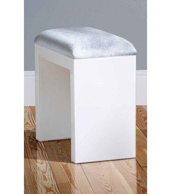 White Glass Stool
