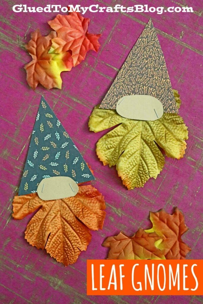 3 Step Leaf Gnome Craft Idea For Kids Glued To My Crafts Fall Paper