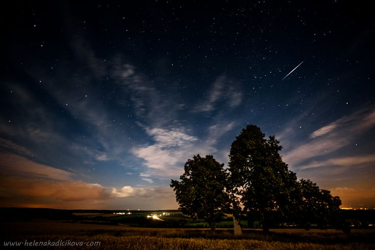 night sky, perseids, stars