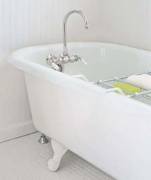 Bathtub-clean the drain once a month with 1/2 c baking soda, 1/2 c white vinegar, let sit 5 min., rinse with full kettle of boiling water.