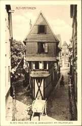 Ak Hattingen im Ennepe Ruhr Kreis, Haus aus dem 16. Jahrhundert am Haldenplatz