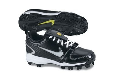 Nike Womens Unify MCS Softball Cleats Black/White