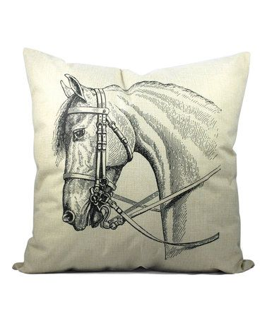 Horse Cottage Throw Pillow #zulily #zulilyfinds