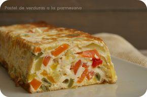 Atrapada en mi cocina: PASTEL DE VERDURAS A LA PARMESANA