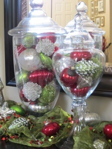 holiday decorating with mercury glass - Glass Decorations