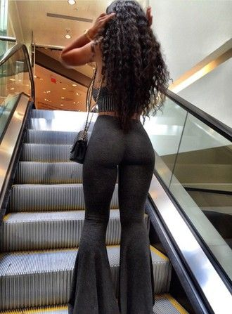 leggings pants grey pants flare pants grey top cute outfits tube top tumblr india love bell bottom pant india westbrooks