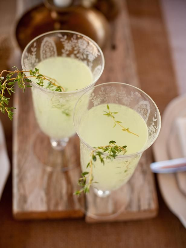 DIY Weddings: Drink Menus and Cocktail Recipes: Nothing says summertime in the country like a tall glass of fresh-squeezed lemonade. Guests will be taken back in time as they quench their thirst with this nostalgic favorite. For the adults, kick it up a few notches with a splash of vodka and dress up each glass with a few sprigs of freshly picked thyme. From DIYnetwork.com