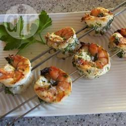 Garlic prawn skewers  A collection of recipes to inspire your next barbecue.  Easy and a little different, mix up the hotdog routine with these outdoor dining ideas  #BBQ #barbecue #ideas #recipes #simple #outdoor #cooking #inspiration #party #food #dining