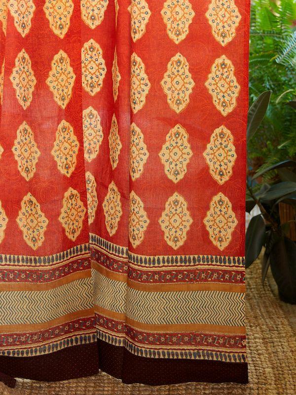 Bohemian Curtains | Exotic Decorative Bohemian Colorful Sheer Tab Top  Curtain Panels