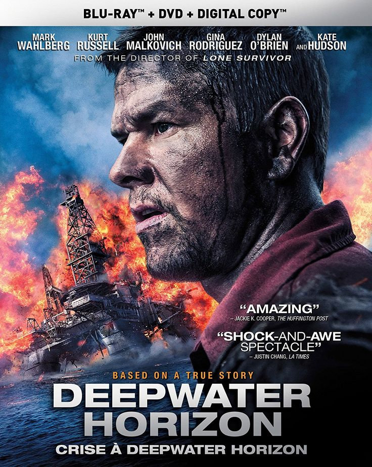 Deepwater Horizon (2016) ... On April 20, 2010, the Deepwater Horizon drilling rig explodes in the Gulf of Mexico, igniting a massive fireball that kills several crew members. Chief electronics technician Mike Williams (Mark Wahlberg) and his colleagues find themselves fighting for survival as the heat and the flames become stifling and overwhelming. Banding together, the co-workers must use their wits to make it out alive amid all the chaos. (26-May-2017)