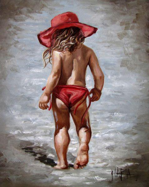 Rooi hoed op die strand 800 x 1000