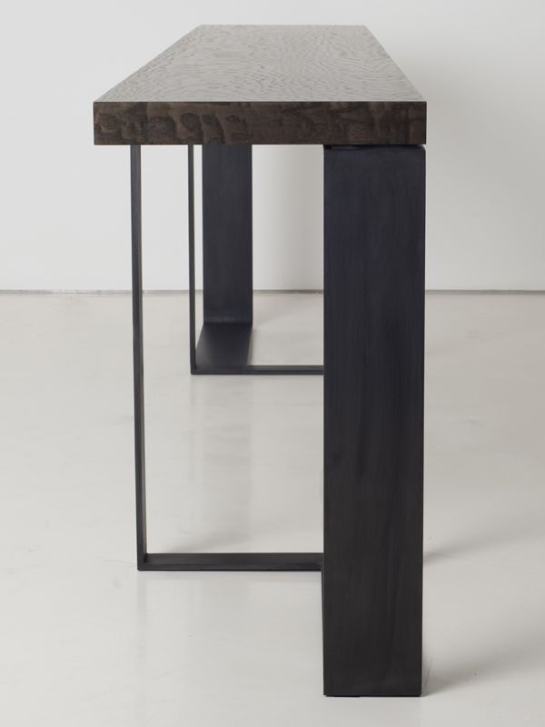 Rectangular steel console table ST MALO by INTERNI EDITION | #design Janine Vandebosch