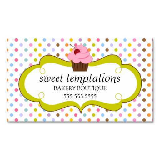 1108 best bakery business cards images on pinterest bakery whimsical cherry cupcake bakery business card reheart Image collections