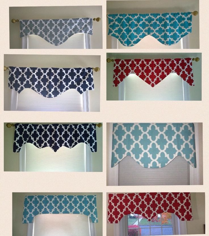 Turquoise valance, window valance, scalloped valance, decorative valance, window treatment, window curtain, home decor by CoolRoomDecor on Etsy https://www.etsy.com/listing/184417561/turquoise-valance-window-valance