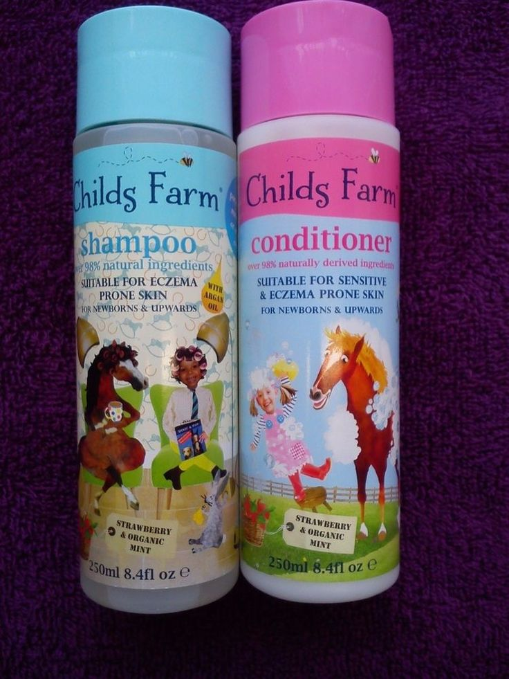 Childs Farm SHAMPOO and CONDITIONER 98% Natural Suitable for Eczema 250ml
