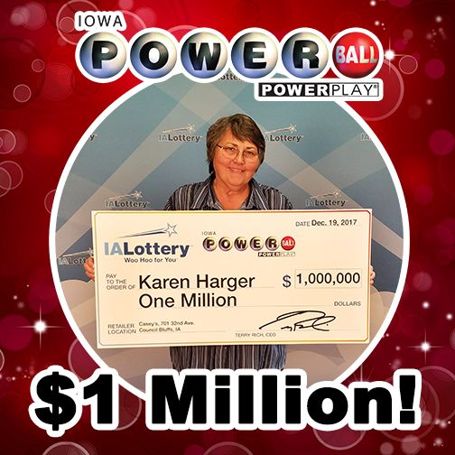 What a great surprise right before the holidays. Karen Harger of #Glenwood checked her #Powerball tickets Friday afternoon only to discover she had a $1 million-winning ticket in the mix! She purchased her winning ticket at Casey's General Store, 701 32nd Ave. in #CouncilBluffs for the drawing on Nov. 4. Congratulations! #WooHooForYou Always sign and #CheckYourTickets!