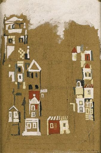 "Maria Helena Vieira da Silva ""Maisons"" Gouache on paper 1946"