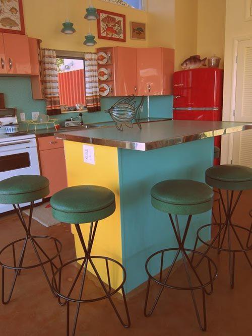 Colorful Midcentury Kitchen