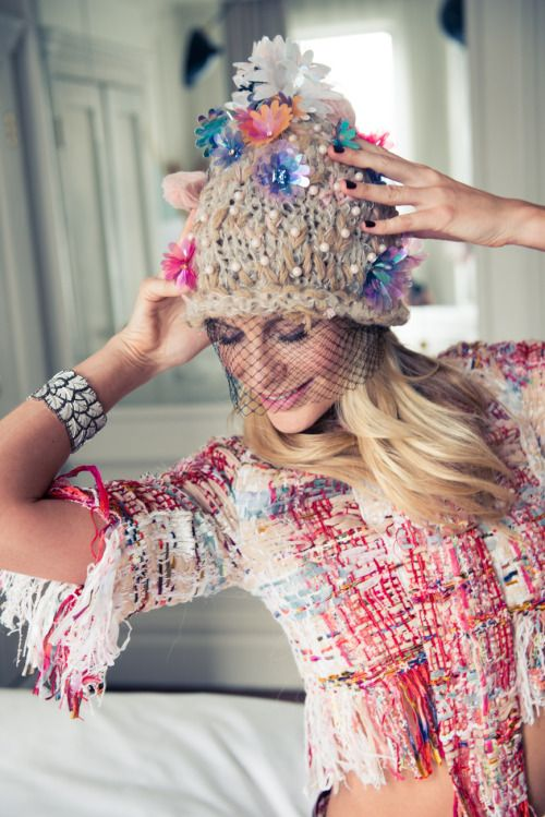 Customers this week have loved all the quaint hats to try on. I even tried one on, lovely isn't it........