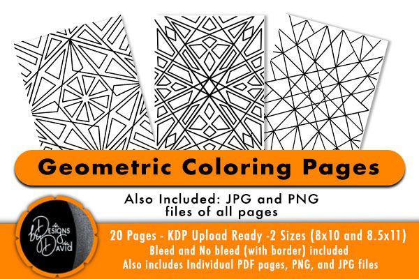 Geometric Pattern Coloring Pages Kdp Graphic By Designs By David Creative Fabrica Geometric Coloring Pages Pattern Coloring Pages Geometric Patterns Coloring