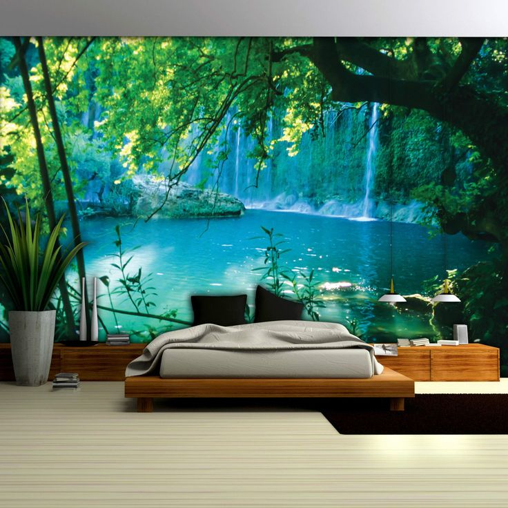 fototapete fototapeten tapete tapeten wandbild wasser wasserfall see. Black Bedroom Furniture Sets. Home Design Ideas