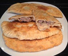 Rezept Chebureki/Knusprige Teigtaschen mit saftiger Hackfleischfüllung von .Nati. - Rezept der Kategorie Hauptgerichte mit Fleisch