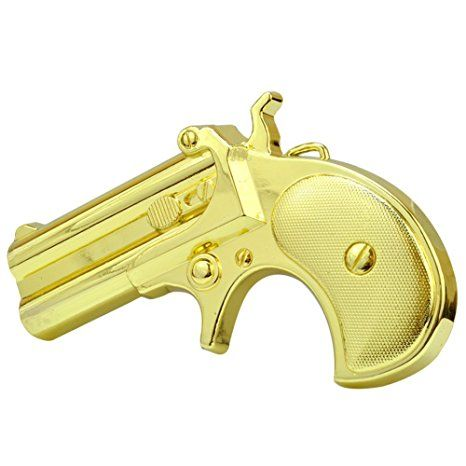 Amazon.com: Buckle Rage Adult Unisex Derringer Handgun Pistol Gun Revolver Belt Buckle Black: Clothing