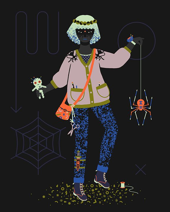 """Voodoo Doll"" 2014 Witch Series - Camille Chew A series of modern day witches practicing their magic, accompanied by their various familiars."
