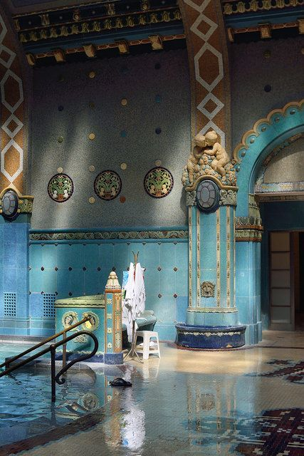 Gellért Bath, a thermal bath in Budapest, Hungary: