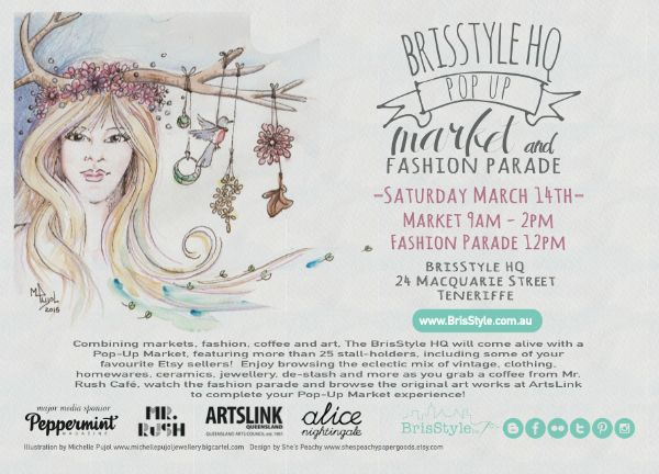 BrisStyle Popup markets and Fashion Show. Destash, Seconds and Handmade markets inside BrisStyle HQ on Saturday 14th March starting at 9am
