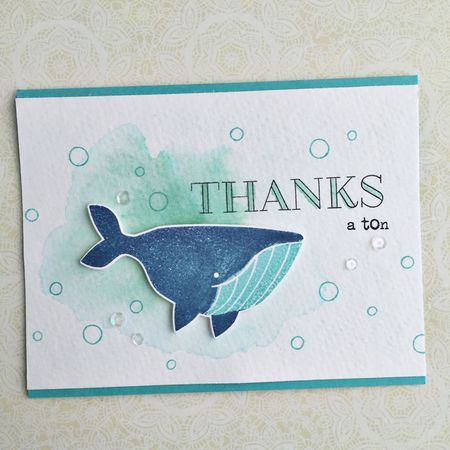 Thanks A Ton Card by Heather Nichols for Papertrey Ink (May 2016)