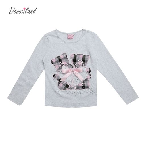 spring Kids Clothing For Long Sleeve Girls T shirts Plaid Rhinestone Bow Cute Coton Top Clothes Check it out! Visit us
