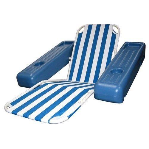 Lounge Chair Floating Tanning Swimming Pool Lounger Swim Lake Raft Water Floa