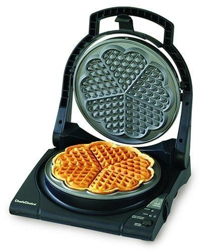 Chef's Choice 840 WafflePro Express Waffle Maker Traditional Five of Hearts
