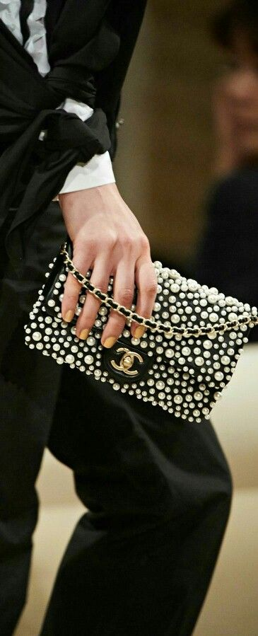New chanel 2015 pearl flap bag cross body woc wallet on chain dress clutch