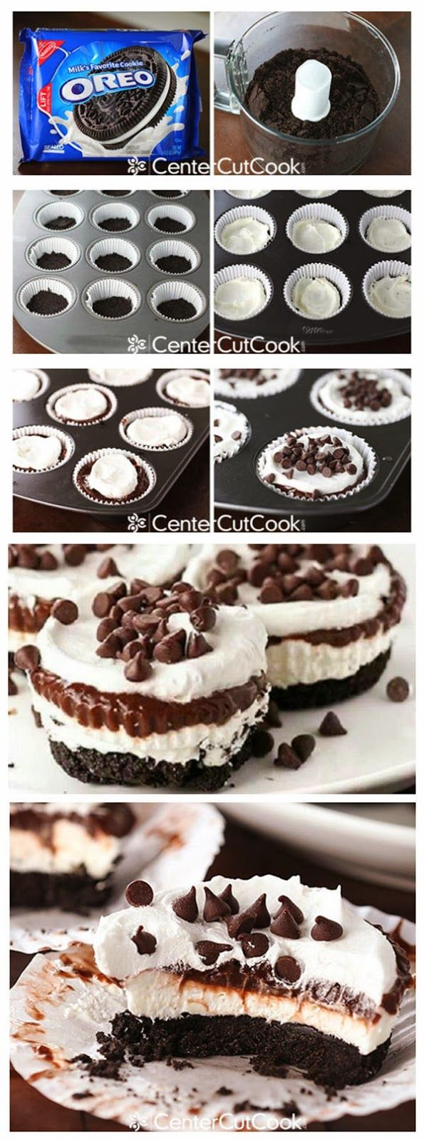 Chocolate Lasagna Cupcakes- yum! #cupcakes #cupcakeideas #cupcakerecipes #food #yummy #sweet #delicious #cupcake