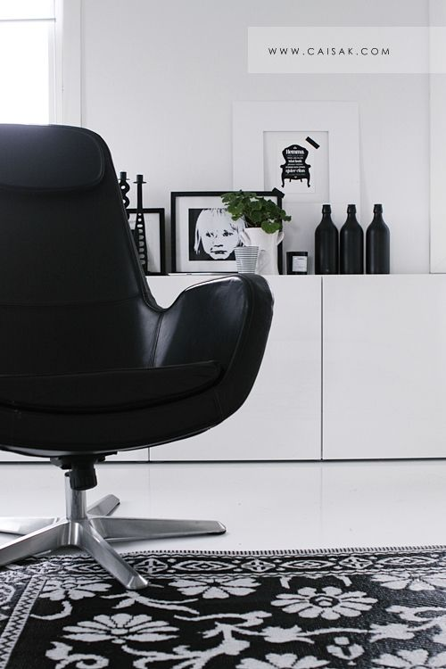 Via Caisa K | Ikea Chair | Black and White | Nordic Scandinavian