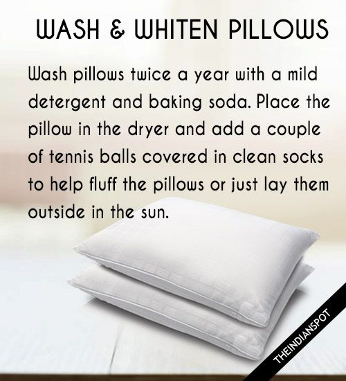 how to wash a pillow in washing machine