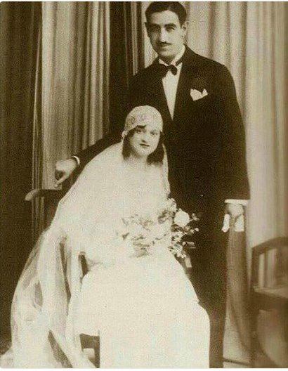 والدي المعمارية العراقية زها حديد Mr. Mohamed Hadid, the former Iraqi Minister of Finance and his wife, the parents of architectural Zaha Hadid.