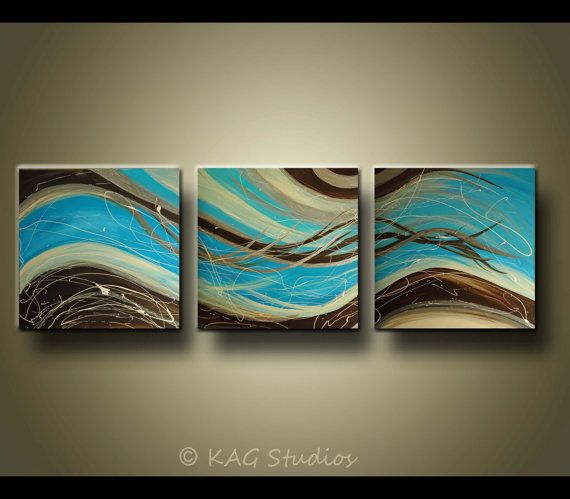 Abstract 2FT x 6FT Huge art Painting by Kag by kagstudios on Etsy, $379.00