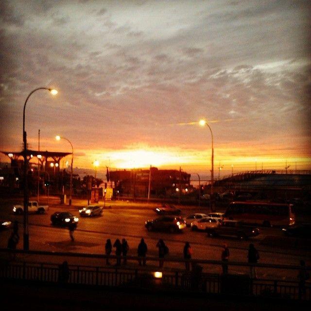 Atardecer Inacapino #Valparaíso #Chile #Sunset