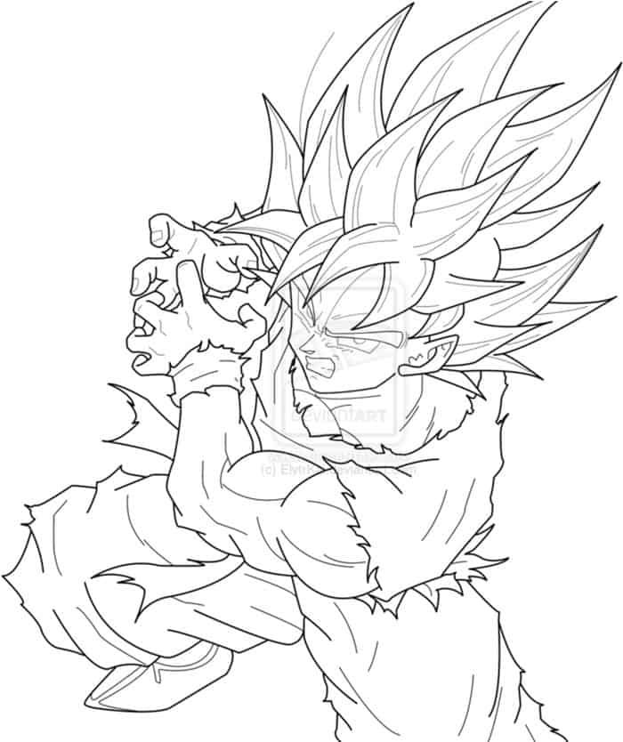 Super Saiyan God Super Saiyan Goku Coloring Pages Goku Super Saiyan Blue Cartoon Coloring Pages Goku Super Saiyan
