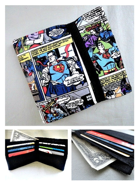 just finished a superman wallet <3