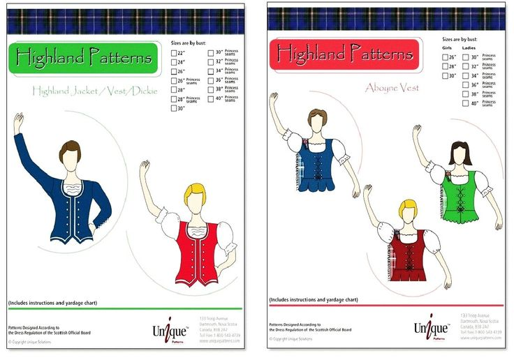 19 Best Images About Sewing Patterns For Highland Dance On