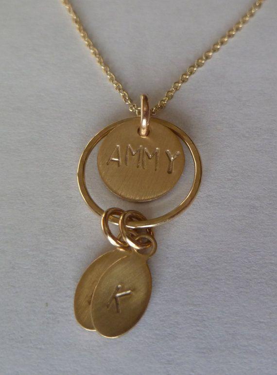 11 mejores imgenes de grandma mommy necklace en pinterest 14k gold filled grandma or mother mommy necklace multi initials surrounding ring gram aloadofball Gallery
