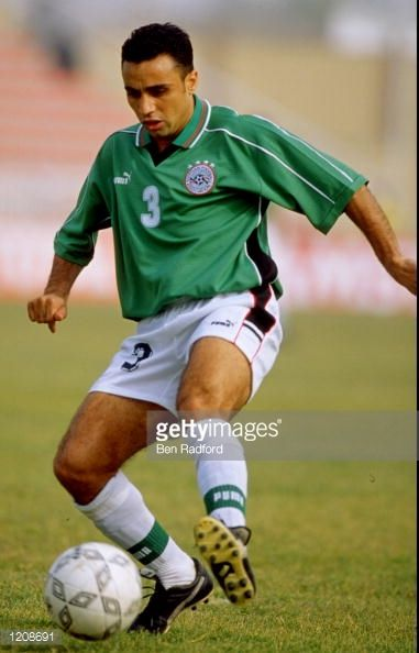 Omara Mohamed of Egypt in action during the African Nations Cup 2000 game against Tunisia The match was played in Kano Nigeria and ended 01 to...