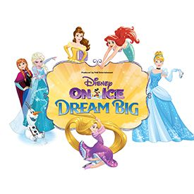 Disney on Ice ~ Dream Big ~ Enter a world where adventure is awaiting and courage leads the way at Disney On Ice presents Dream Big. Through enchanted pixie-dust, Tinker Bell takes you on a journey of beloved Disney tales LIVE ON ICE. High-flying jumps, daring acrobatics, breathtaking skating and lovable Disney friends make this an experience your family will never forget! Excited to be going to see this show! It is a prelude to my first Walt Disney World trip later this year!!