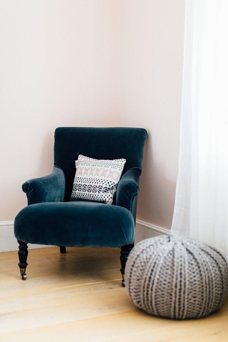 Velvet Grey Bedroom Chair