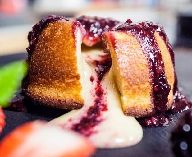 White Chocolate Lava Cake ~ from We All Need Sugar