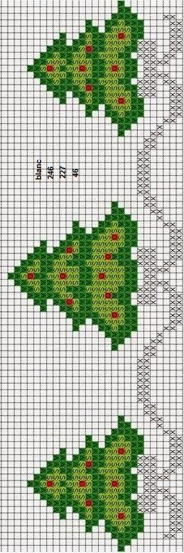 Christmas tree cross stitch.